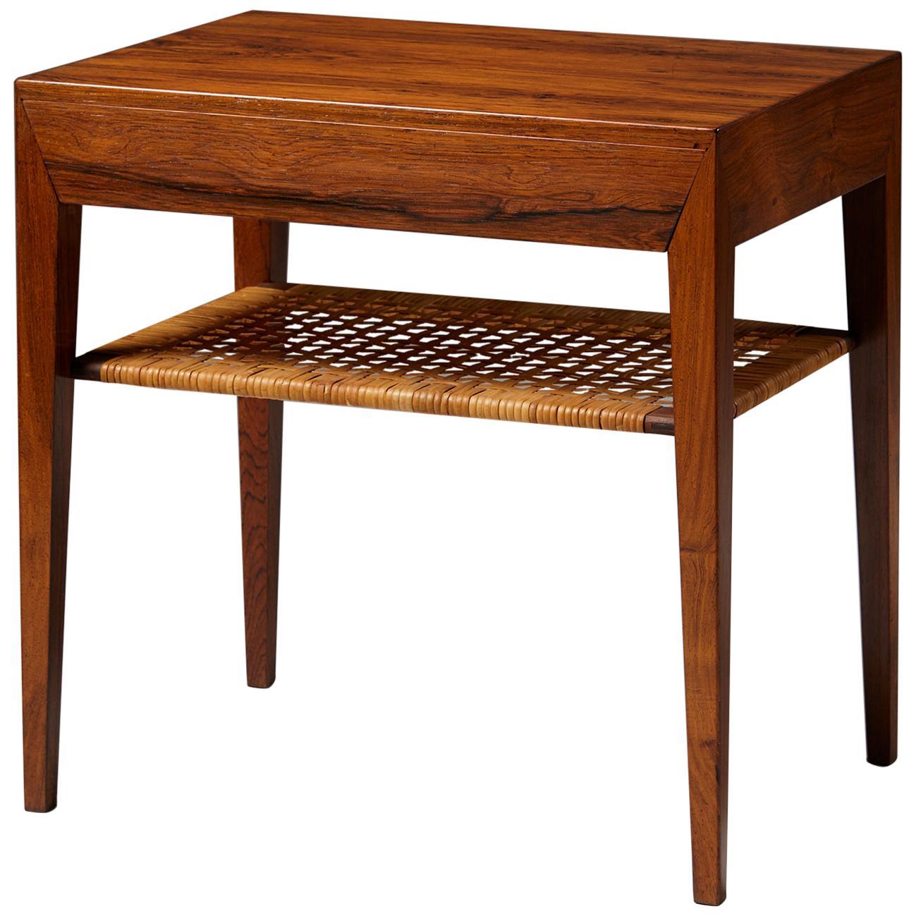 Side Table Designed by Severin Hansen for Haslev Mobelfrabrik, Denmark, 1950s