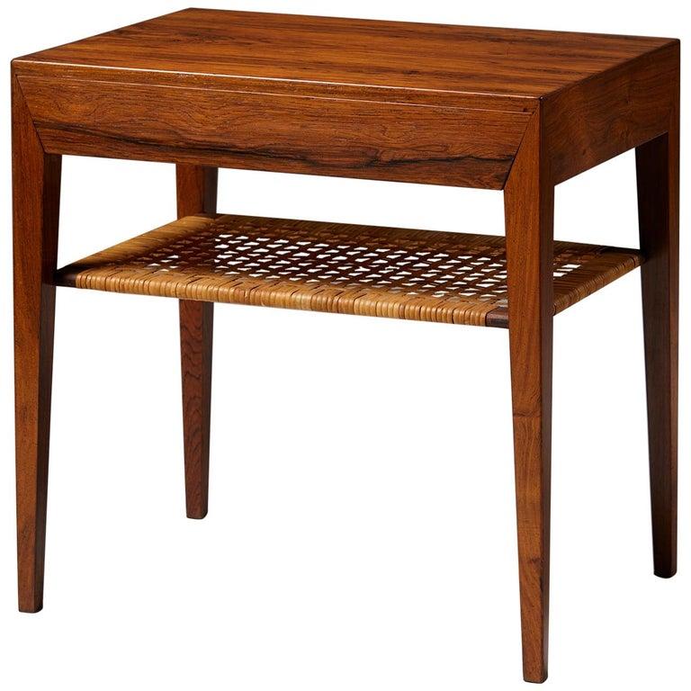 Side Table Designed by Severin Hansen for Haslev Mobelfrabrik, Denmark, 1950s For Sale