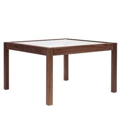 Side Table Embassy T81/2 Walnut Legs, Brass Gloss Detail Retro Style
