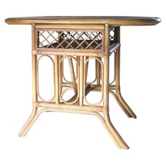 Side Table, End Table, Bamboo Table, 1970s, France