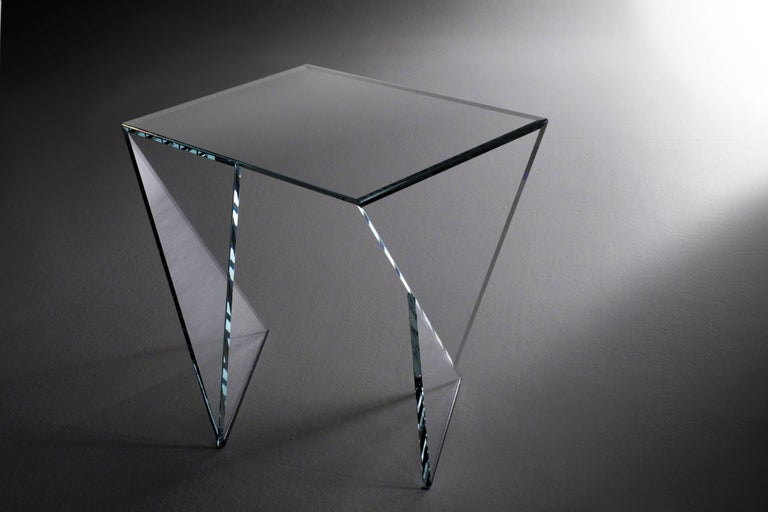 Side Table End Table Glass Crystal Limited Edition Contemporary Italian Design For Sale 4