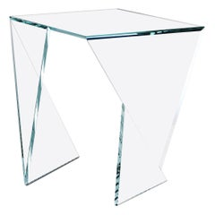 Side Table End Table Glass Crystal Limited Edition Contemporary Italian Design