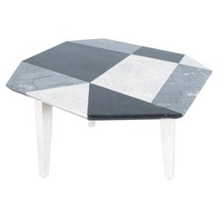 Side Table From Mosaic Marble Tiles, Italy, circa 1970