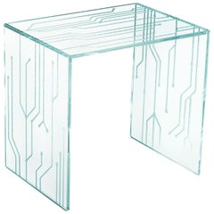 Side Table Glass Crystal Italian Contemporary Design