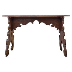 Side Table Hall or Console Table Carved Spanish Colonial Revival