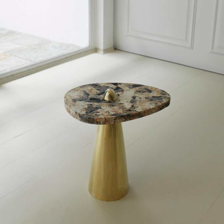 This side table was meticulously handmade by master artisans one-piece at a time. It is therefore quite difficult, if not impossible to make identical items. The projects are based on a contemporary appropriation of traditional methods from