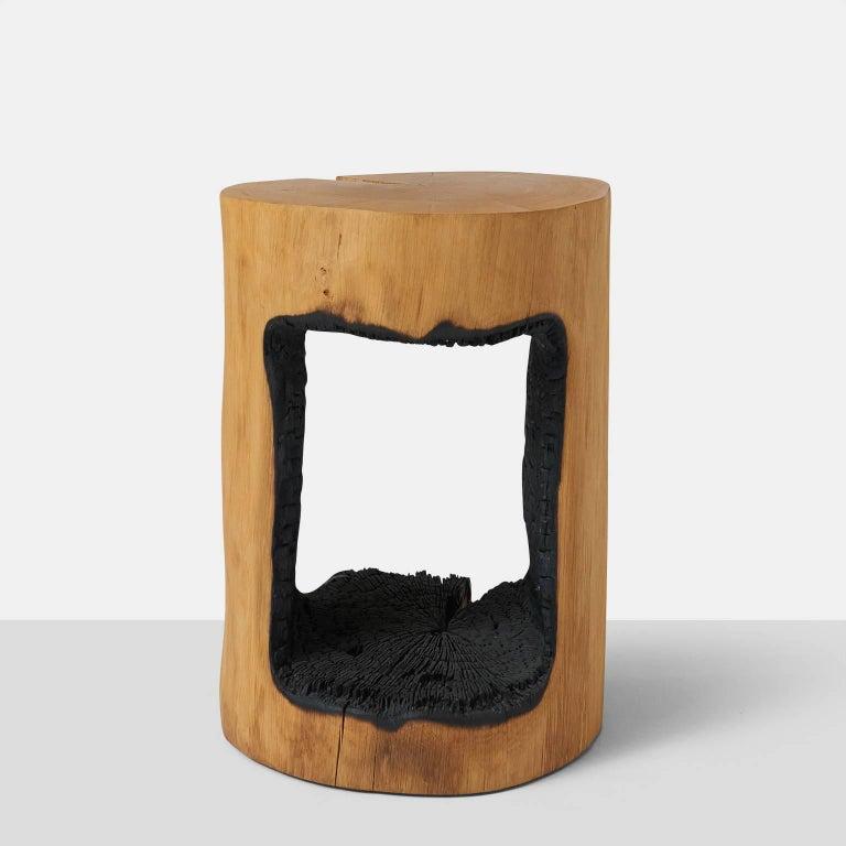 Organic Modern Side Table in Oak by Kaspar Hamacher For Sale