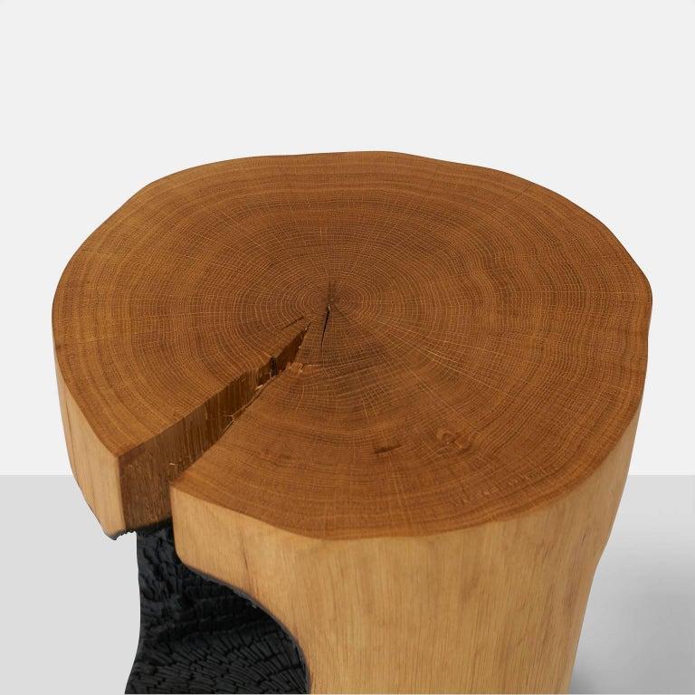 Dutch Side Table in Oak by Kaspar Hamacher For Sale