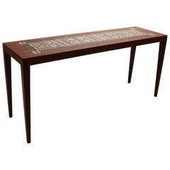Side Table in Rosewood with Tiles by Royal Copenhagen, by Severin Hansen, 1960s