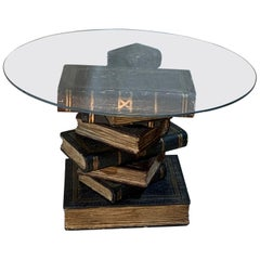 Side Table in Shape of Stacked Books