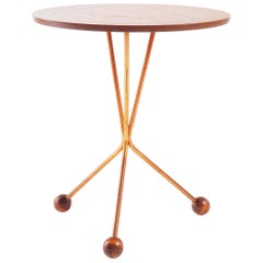 Side Table in Teak and Copper by Alberts, Sweden