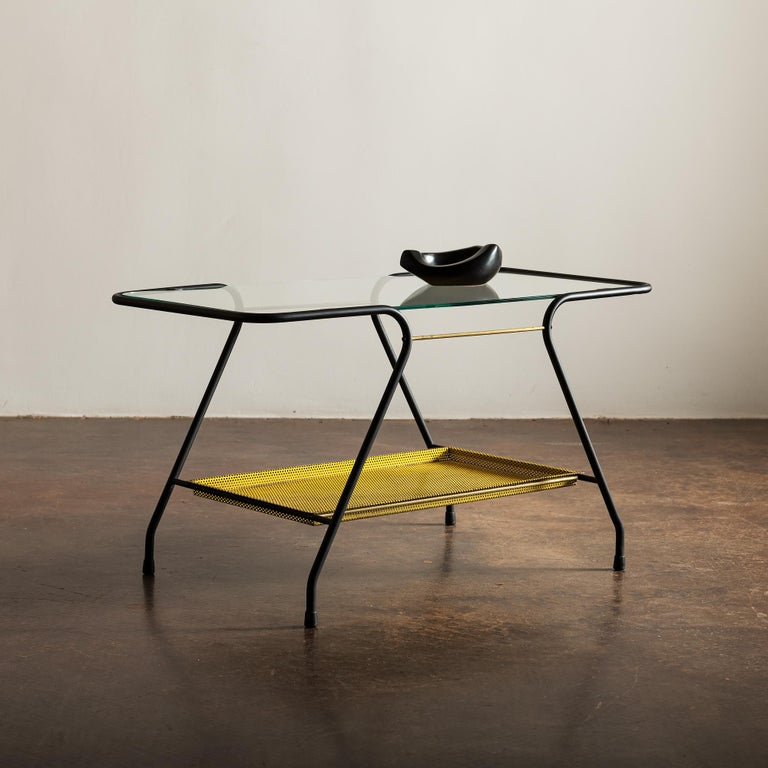 Mid-Century Modern Side Table in the Style of Mathieu Matégot, France 1950s For Sale