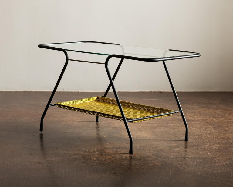 French Side Table in the Style of Mathieu Matégot, France 1950s For Sale