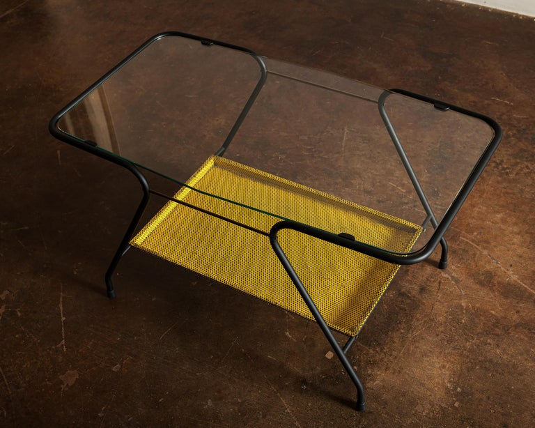 Side Table in the Style of Mathieu Matégot, France 1950s In Good Condition For Sale In Santa Fe, NM