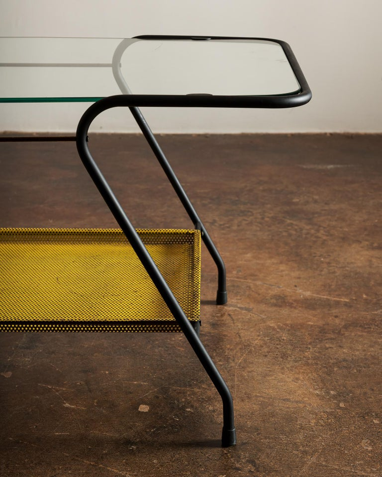 Brass Side Table in the Style of Mathieu Matégot, France 1950s For Sale