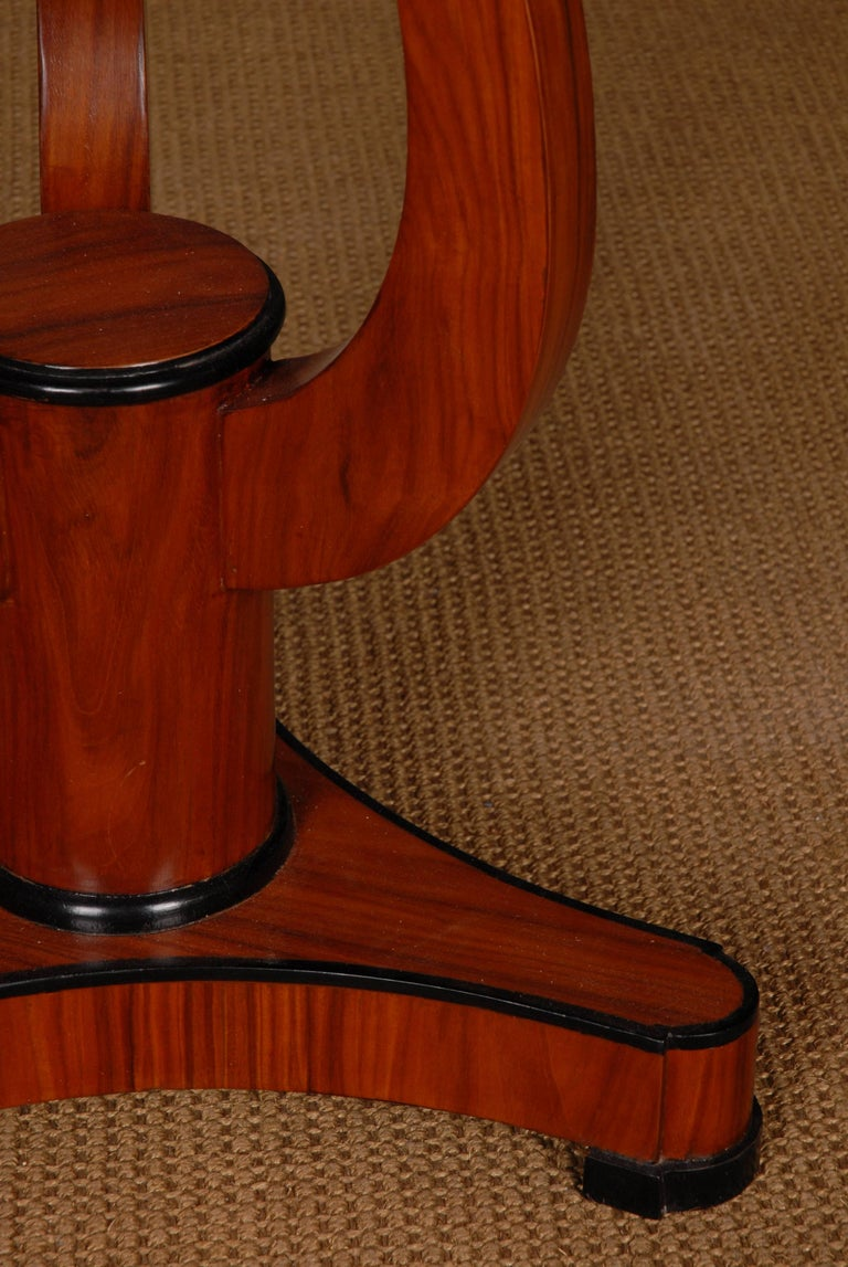 Mahogany Side Table in Viennese Biedermeier Style For Sale