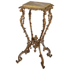 Side Table, Iron, Onyx Top, 19th Century