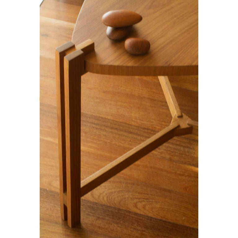 Modern Side Table Llac Made of Tropical Hardwood in Brazilian Contemporary Design For Sale