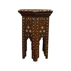 Side Table, Middle Eastern, Mahogany, Moorish, Wine, Occasional, circa 1880