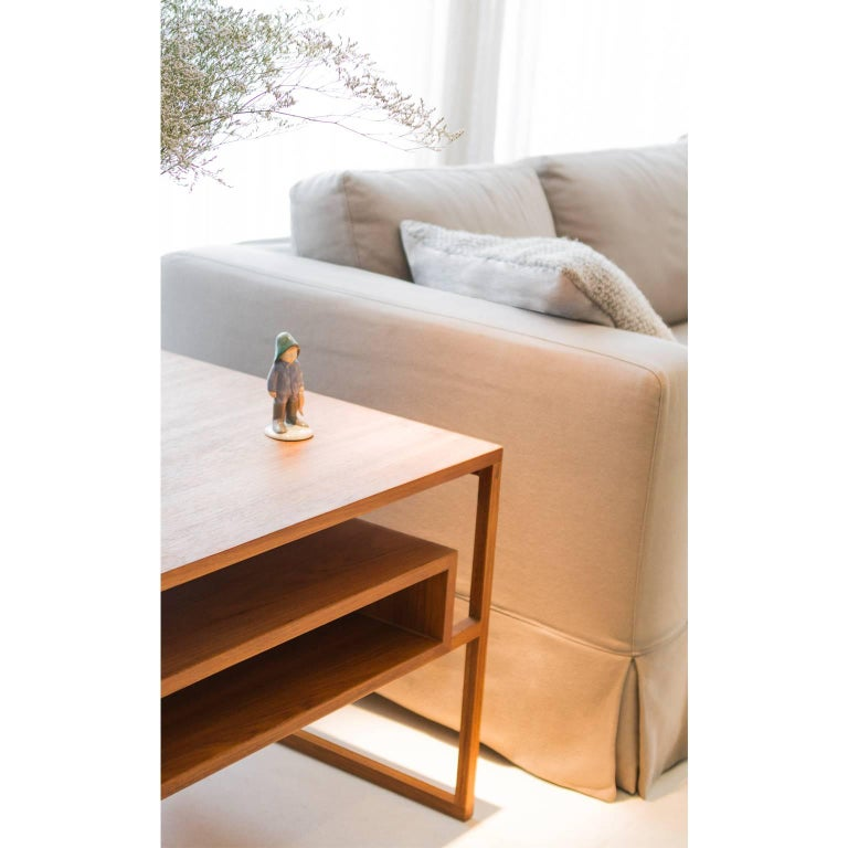 Side Table Mínim Made of Tropical Wood in Brazilian Contemporary Design In New Condition For Sale In Sao Paulo, SP
