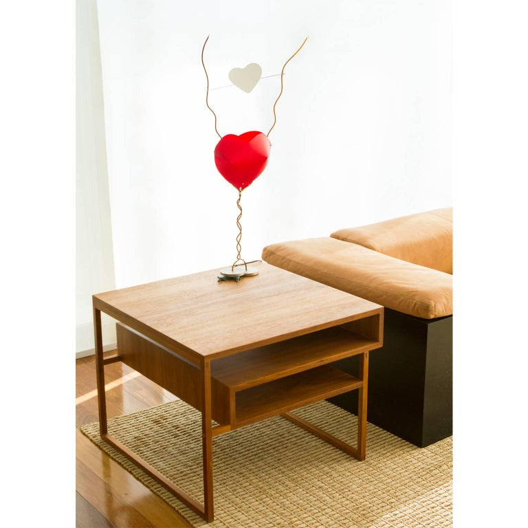 Side Table Mínim Made of Tropical Wood in Brazilian Contemporary Design For Sale 2