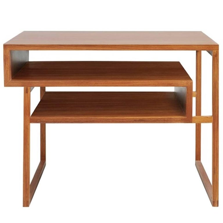 Side Table Mínim Made of Tropical Wood in Brazilian Contemporary Design For Sale