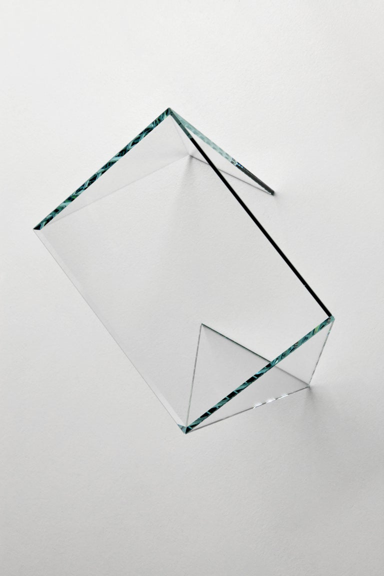 Contemporary Side Table Modern Glass Crystal Limited Edition Design