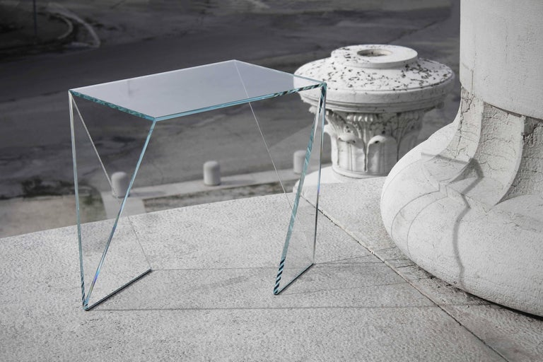 Side Table Modern Glass Crystal Limited Edition Design 2