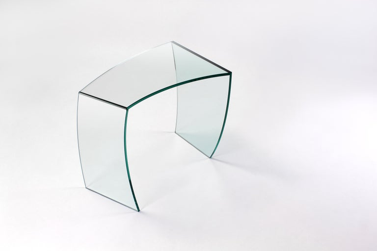 Italian Side Table Modern Glass Limited Edition Design For Sale