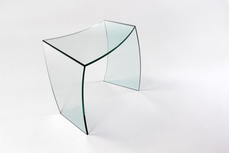 Side Table Modern Glass Limited Edition Design In New Condition For Sale In Ancona, Marche
