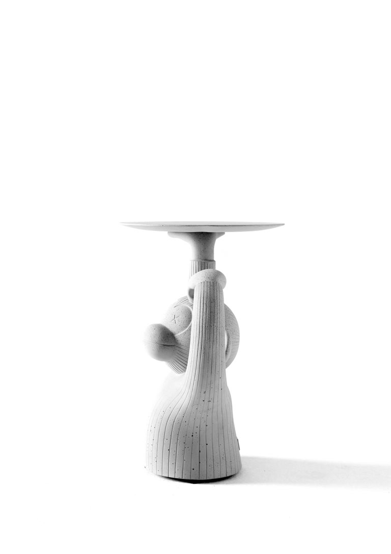 Modern  Monkey side table in grey concrete designed by Jaime Hayon For Sale