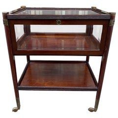 Side Display Table /Glass Montre Top /Trolley, Mid-20th Century