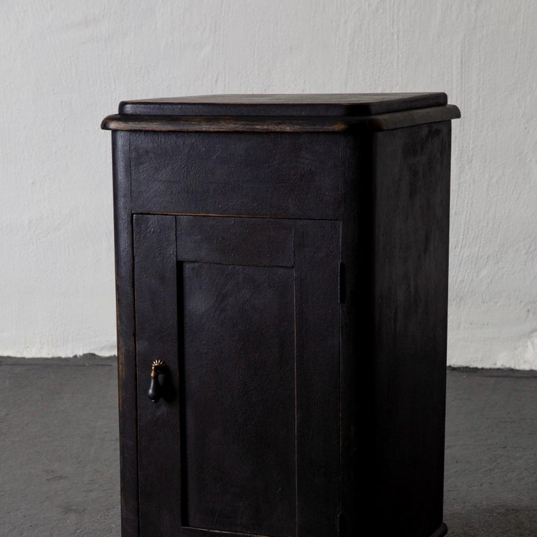Side Table Nightstand Swedish Black, 19th Century, Sweden For Sale 1