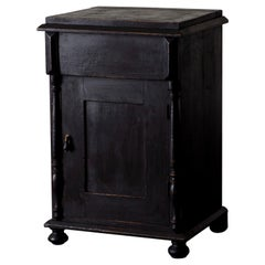 Side Table Nightstand Swedish Black, 19th Century, Sweden