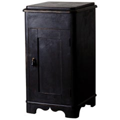Side Table Nightstand Swedish Black, 19th Century, Sweden