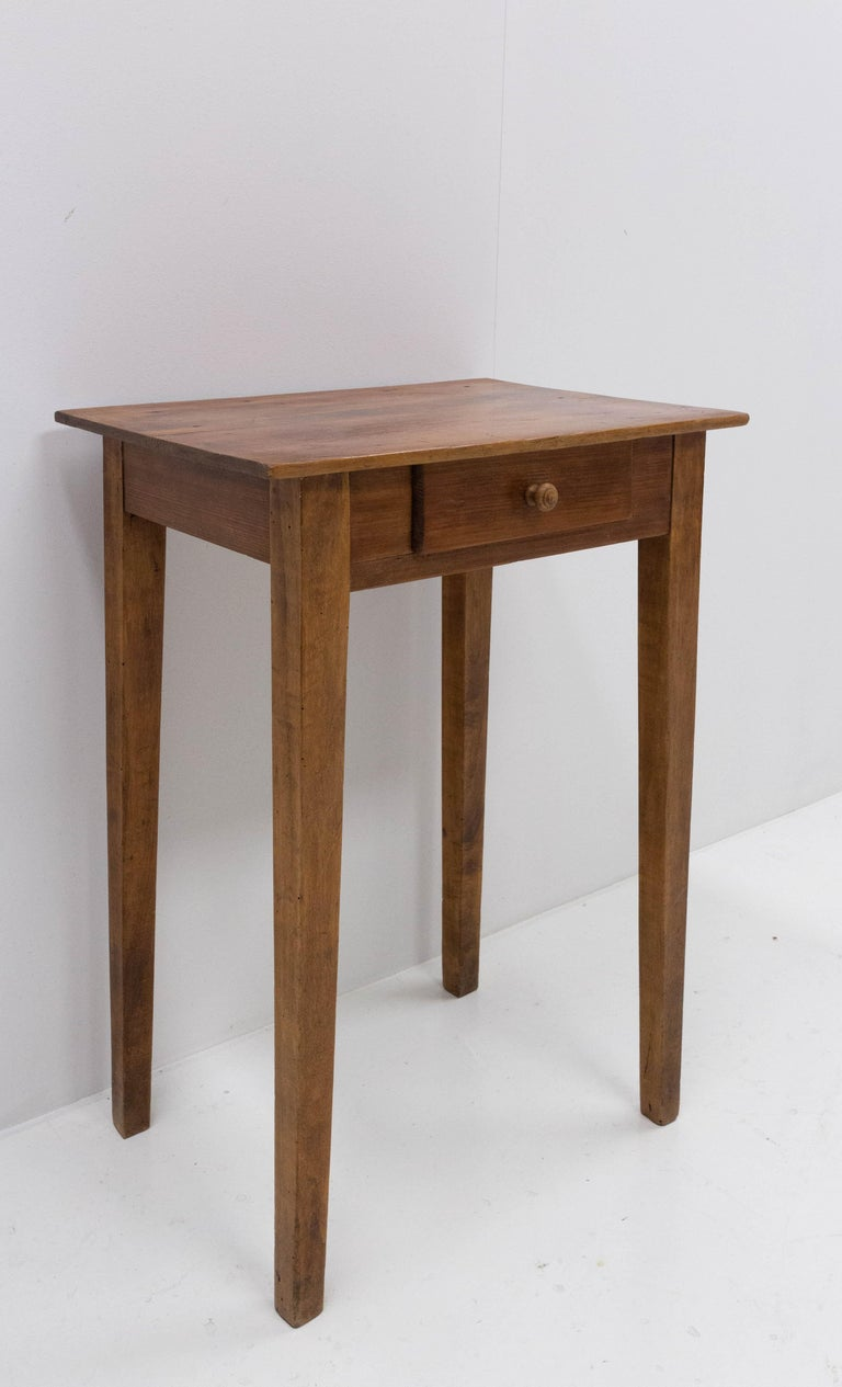 French Provincial Side Table or End Table with Drawer French, Early 20th Century For Sale
