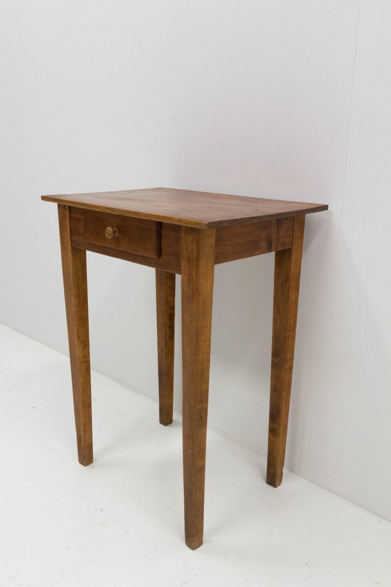 Side Table or End Table with Drawer French, Early 20th Century In Good Condition For Sale In Labrit, Landes