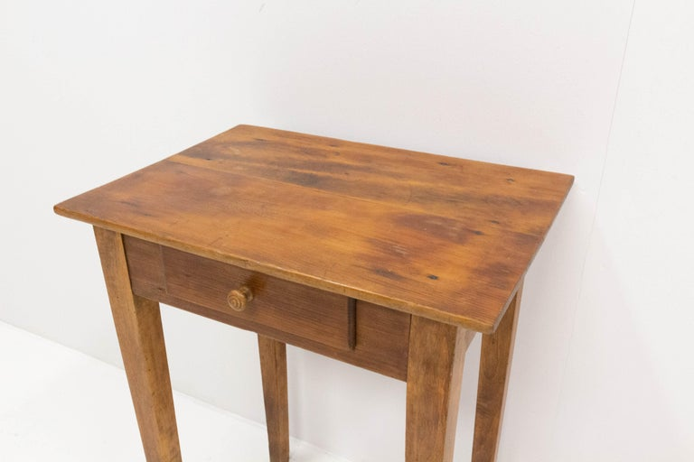 Side Table or End Table with Drawer French, Early 20th Century For Sale 1