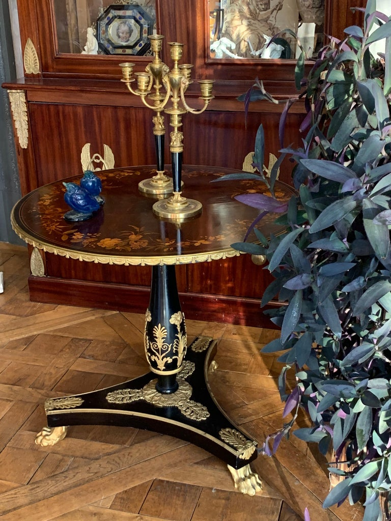 American An Ormolu Mounted Side Table For Sale