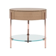Side Table Pioneer T79L Copper Gloss, Natural Classics Style
