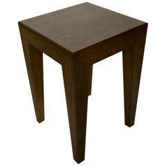 Side Table / Stool in Anthracite Oak 'Pair'