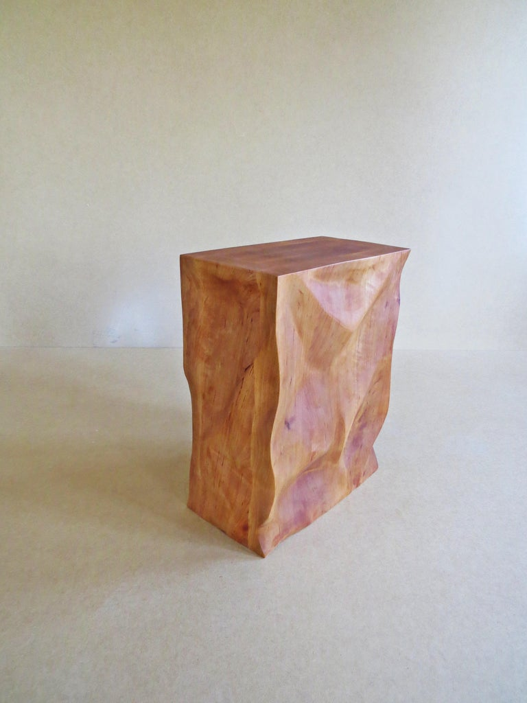 Modern, European, 21st Century, Side Table, Stool, Solid Wood, Sculptural For Sale 3