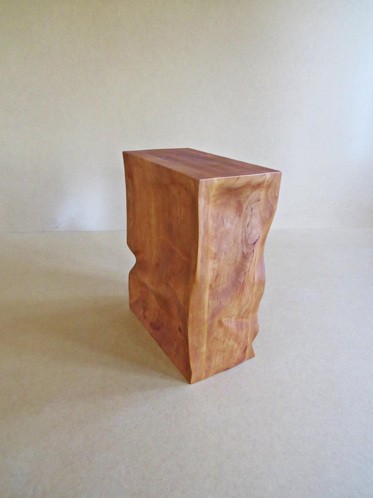 Modern, European, 21st Century, Side Table, Stool, Solid Wood, Sculptural For Sale 4