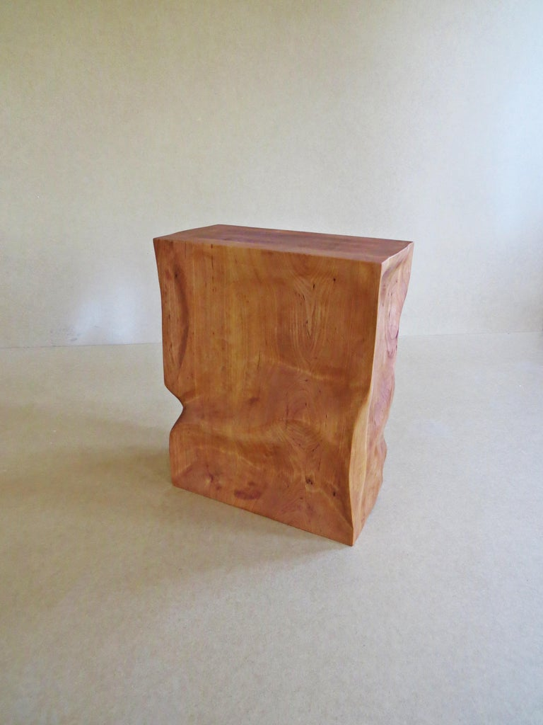 Modern, European, 21st Century, Side Table, Stool, Solid Wood, Sculptural For Sale 5