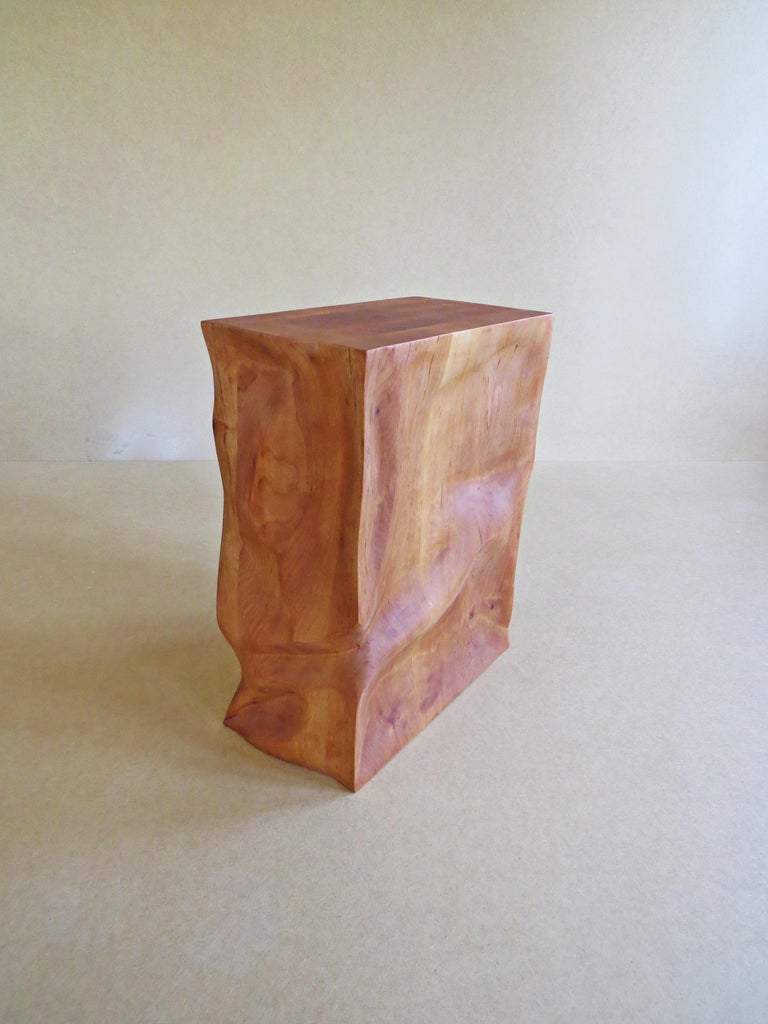 Modern, European, 21st Century, Side Table, Stool, Solid Wood, Sculptural For Sale 7