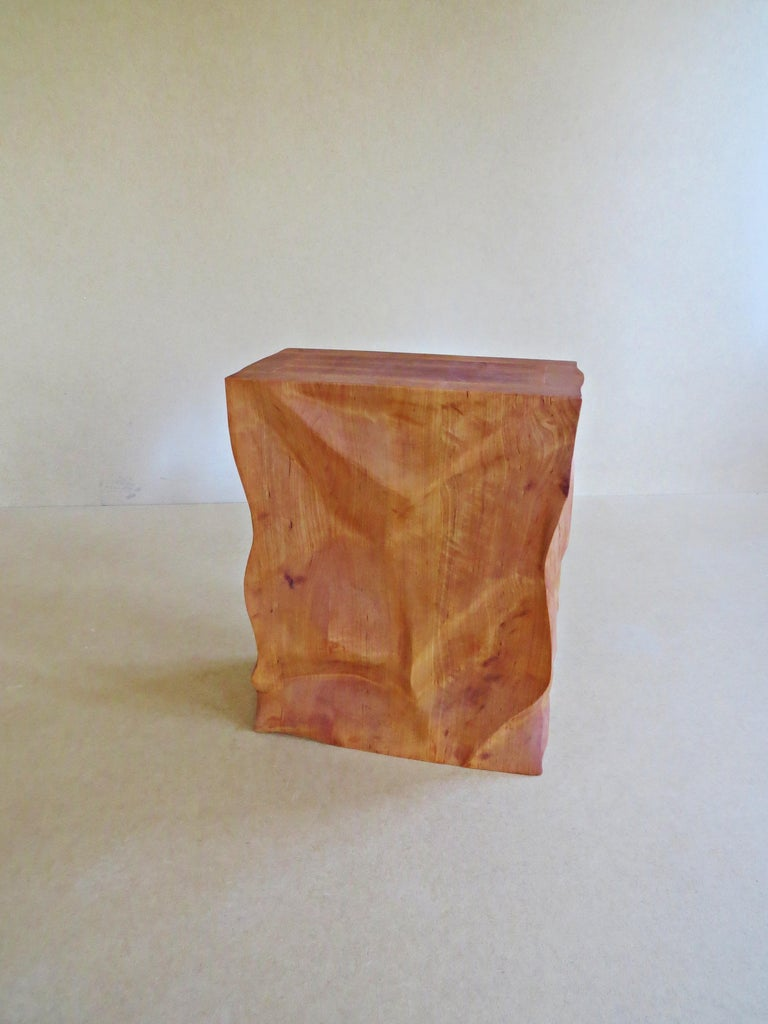 Modern, European, 21st Century, Side Table, Stool, Solid Wood, Sculptural For Sale 1