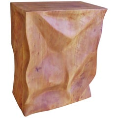 Modern, European, 21st Century, Side Table, Stool, Solid Wood, Sculptural