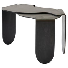 Side Table Unique Organic Black Modern/Contemporary Waxed Steel