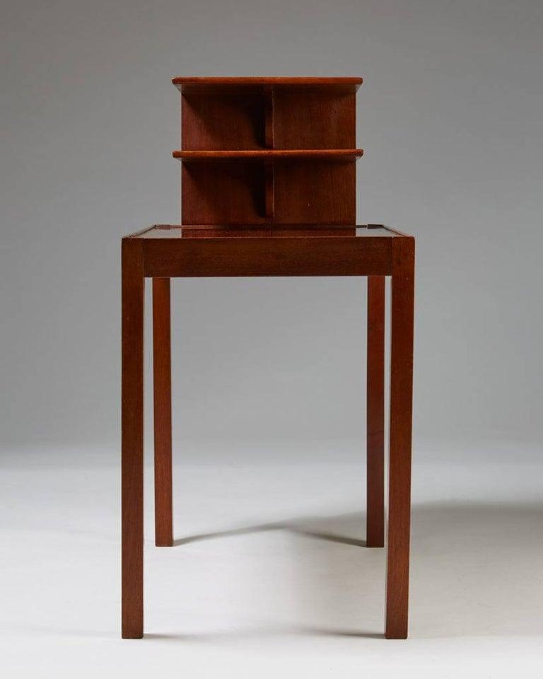 Swedish Side Table with Bookshelf Designed by Josef Frank for Svenskt Tenn, Sweden, 1950 For Sale