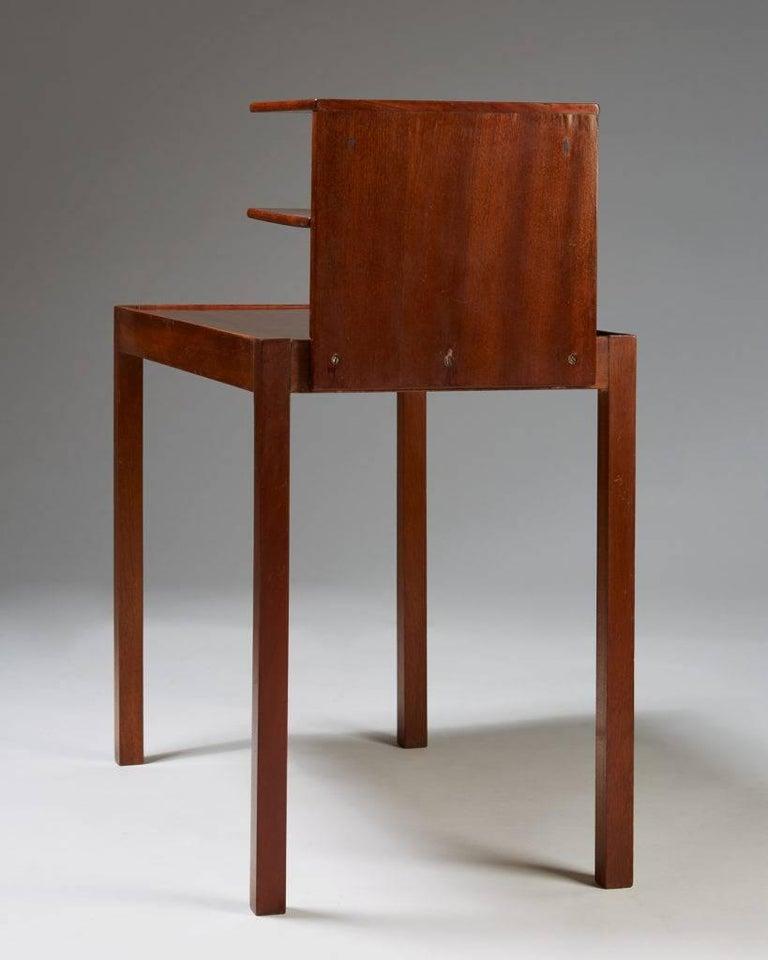 Mid-20th Century Side Table with Bookshelf Designed by Josef Frank for Svenskt Tenn, Sweden, 1950 For Sale